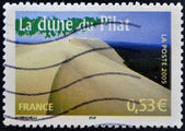 FRANCE - CIRCA 2005: A stamp printed in France shows The Great Dune of Pyla, circa 2005 — Stock Photo