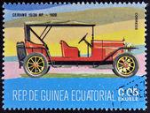 EQUATORIAL GUINEA - CIRCA 1974: A stamp printed in Guinea dedicated to vintage cars, shows Ceirano 15 20 Hp, 1920, circa 1974 — Stock Photo