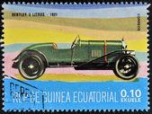 EQUATORIAL GUINEA - CIRCA 1974: A stamp printed in Guinea dedicated to vintage cars, shows Bentley 3 Litre, 1921, circa 1974 — Stock Photo