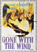 SAO TOME AND PRINCIPE - CIRCA 1995: A stamp printed in Sao Tome shows movie poster Gone with the wind, circa 1995 — Stock Photo