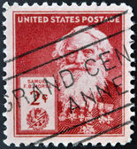 UNITED STATES OF AMERICA - CIRCA 1940: A stamp printed in USA shows Samuel Finley Breese Morse , circa 1940 — Stock Photo