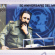 Stock Photo: CUB- CIRC2009: stamp printed in Cubshowing image of Fidel Castro, circ2009.