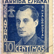 Royalty-Free Stock Photo: SPAIN - CIRCA 1940: A stamp printed in Spain shows Jose Antonio Primo de Rivera, circa 1940