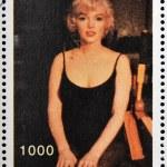 ABKHAZIA - CIRCA 2000: stamp printed in Abkhazia (Georgia) shows Marilyn Monroe, circa 2000 — Stock Photo #23140792