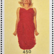 ABKHAZIA - CIRCA 2000: stamp printed in Abkhazia (Georgia) shows Marilyn Monroe, circa 2000 — Stock Photo #23140818