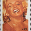 ABKHAZIA - CIRCA 2000: stamp printed in Abkhazia (Georgia) shows Marilyn Monroe, circa 2000 — Stock Photo #23140826