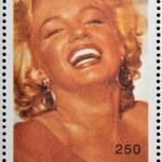 ABKHAZIA - CIRCA 2000: stamp printed in Abkhazia (Georgia) shows Marilyn Monroe, circa 2000 — Stock Photo