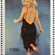 ABKHAZIA - CIRCA 2000: stamp printed in Abkhazia (Georgia) shows Marilyn Monroe, circa 2000 — Stock Photo #23140840