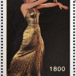 ABKHAZIA - CIRCA 2000: stamp printed in Abkhazia (Georgia) shows Marilyn Monroe, circa 2000 — Stock Photo #23140850