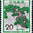 JAPAN - CIRCA 1970: A stamp printed in Japan shows Bonsai tree, circa 1970 — Stock fotografie