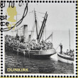 GREAT BRITAIN - CIRC2010: stamps printed in United Kingdom dedicated to Britain Alone, Dunkirk, shows Boats from Evacuation, circ2010 — Stock Photo #23141102