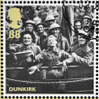 GREAT BRITAIN - CIRCA 2010: stamps printed in United Kingdom dedicated to Britain Alone, Dunkirk, shows Rescued British Soldiers, circa 2010 — Stock Photo
