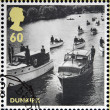 GREAT BRITAIN - CIRCA 2010: stamps printed in United Kingdom dedicated to Britain Alone, Dunkirk, shows Operation Little Ships, circa 2010 — Stock Photo