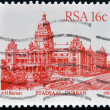 RSA - CIRCA 1987: A stamp printed in Republic of South Africa, shows Stadsaal Durban, circa 1987 - Stock Photo