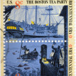 UNITED STATES OF AMERICA - CIRCA 1976: stamp printed in USA to commemorate the Boston Tea Party as part of the Bicentennial celebration in the United States, circa 1976 — Stock Photo
