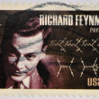 UNITED STATES OF AMERICA - CIRCA 2005: A stamp printed in USA shows Richard Feynman, physicist, circa 2005 — Stock Photo