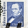 USA-CIRCA 1989:A stamp printed in USA shows Johns Hopkins was a wealthy American entrepreneur, philanthropist and abolitionist of 19th-century Baltimore, Maryland, circa 1989. — Stock Photo