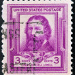 UNITED STATES OF AMERICA - CIRCA 1940: A stamp printed in USA shows portrait of James Russell Lowell, circa 1940 — Photo