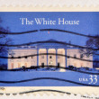 UNITED STATES OF AMERICA - CIRCA 2000: A stamp printed in USA shows the white house at night, circa 2000 — Stock Photo