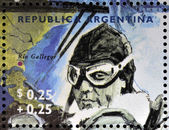 ARGENTINA - CIRCA 1995: A stamp printed in Argentina shows Antoine de Saint-Exupery, circa 1995 — Stock Photo