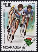 ニカラグア - 年頃 1982年: ニカラグアの印刷スタンプが表示されます年頃 1982年サイクリング — ストック写真