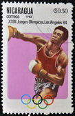 NICARAGUA - CIRCA 1982: A stamp printed in Nicaragua shows boxing, circa 1983 — Stock Photo