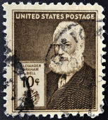 UNITED STATES OF AMERICA - CIRCA 1940: A stamp printed in USA shows Alexander Graham Bell, circa 1940 — Stock Photo