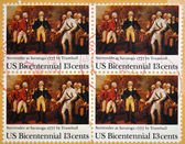 UNITED STATES OF AMERICA - CIRCA 1977: a stamp printed in USA shows Painting Surrender of Burgoyne at Saratoga by John Trumbull 1777, circa 1977 — Stock Photo