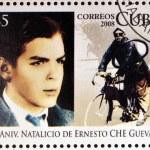 CUBA - CIRCA 2008: Stamp printed in Cuba dedicated to 80th anniversary of the birth of Ernesto Che Guevara, circa 2008 — Stock Photo #23302742