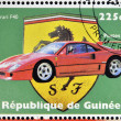 GUINEA - CIRCA 1998: Stamp printed in Guinea dedicated to anniversary of Enzo Ferrari, shows Ferrari F40, circa 1998 — Stock Photo