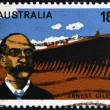 Stock Photo: AUSTRALI- CIRC1976: stamp printed in Australishows Ernest Giles, circ1976