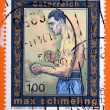 Stock Photo: AUSTRI- CIRC2005: stamp printed in Austrishows Max Schmeling, heavyweight champion of world, circ2005