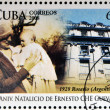 CUBA - CIRCA 2008: Stamp printed in Cuba dedicated to 80th anniversary of the birth of Ernesto Che Guevara, circa 2008 - Lizenzfreies Foto