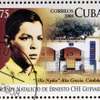 CUBA - CIRCA 2008: Stamp printed in Cuba dedicated to 80th anniversary of the birth of Ernesto Che Guevara, circa 2008 — Lizenzfreies Foto