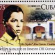 CUBA - CIRCA 2008: Stamp printed in Cuba dedicated to 80th anniversary of the birth of Ernesto Che Guevara, circa 2008 — Stock Photo
