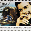 CUBA - CIRCA 2008: Stamp printed in Cuba dedicated to 80th anniversary of the birth of Ernesto Che Guevara, circa 2008 — Stockfoto
