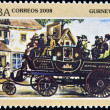 Stock Photo: CUB- CIRC2008: stamp printed in Cubshows Gurney 1929, vintage cars, circ2008