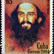 CUBA - CIRCA 2004: A Stamp printed in Cuba devoted 45 years of disappearance of Comandante Camilo Cienfuegos, circa 2004 — Stock Photo #23303066