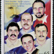 CUBA - CIRCA 2005: Stamp printed in Cuba shows the five Cubans imprisoned in the United States, circa 2005 — Stock Photo