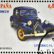 Stock Photo: SPAIN - CIRC2012: Stamps printed in Spain dedicated to classic car, shows citroen c-11, 1934, circ2012