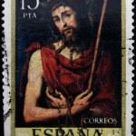 SPAIN - CIRCA 1979: A stamp printed in Spain shows Ecce Homo, painting by Juan de Juanes, circa 1979 — Stock Photo