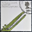 Stock Photo: UNITED KINGDOM - CIRC2006: stamp printed in Great Britain dedicated to animal tales, shows Roald Dahl's 'Enormous Crocodile', circ2006