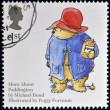 UNITED KINGDOM - CIRCA 2006: A stamp printed in Great Britain dedicated to animal tales, shows Michael Bond's 'Paddington Bear', circa 2006 — Stock Photo