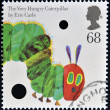 UNITED KINGDOM - CIRCA 2006: A stamp printed in Great Britain dedicated to animal tales, shows The Very Hungry Caterpillar by Eric Carle', circa 2006 — Stock Photo