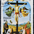 SAO TOME AND PRINCIPE - CIRCA 1983: Stamp printed in Sao Tome shows Christ Crucified by Raphael, circa 1983 — Stock Photo