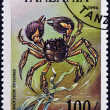 Stock Photo: TANZANI- CIRC1994: stamp printed in Tanzanishows image of Chinese mitten crab, Eriocheir sinensis , circ1994