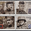 UNITED STATES OF AMERICA - CIRCA 2000: Stamps printed in USA dedicated to Military or Armed Forces shows Distinguished Soldiers, circa 2000 - Stock Photo