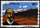 AUSTRALIA - CIRCA 1976: A stamp printed in Australia shows Ernest Giles, circa 1976 — Foto de Stock