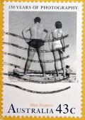 "AUSTRALIA - CIRCA 1991: Stamp printed in Australia dedicated to 150 anniversary of photography, shows photo ""Bondi"" by Max Dupain, circa 1991 — Stock Photo"