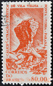 BRAZIL - CIRCA 1964: A stamp printed in Brazil shows Rock formation Chalice Rock, Ponta Grossa, Parana, circa 1964 — Stock Photo
